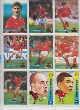 9  Topps Stadium Club cards from  Mottingham  Forest