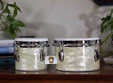 Ludwig 1960's Bongos - White Marine Pearl