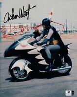 Adam West Signed Autographed 8X10 Photo Batman Riding Batcycle Color GA
