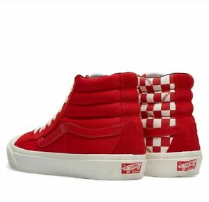 Vans Vault OG Style 138 LX Skate Shoes Size 11 Racing Red Checkers