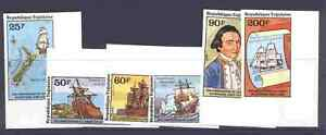 Togo 1016-7, C371-4 imperf MNH Captain Cook, Map, Ship