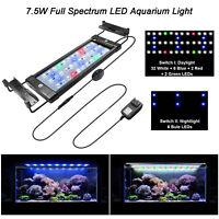 "12-20"" LED Aquarium Light Full Spectrum Fish Tank Plant Marine Flower Decor Lamp"