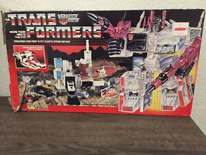 Vintage Original Transformers G1 1985 Hasbro Autobot Battle Station Metroplex