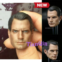 "1:6 Scale Superman Henry Cavill Head Sculpt For 12"" Male Action Figure Body Toys"