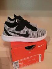Nib Nike Free RN Size 9 Toddler Boys Shoes White Black