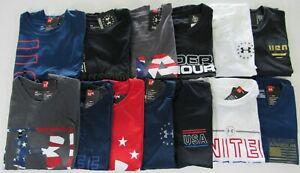 Under Armour Mens Loose Fit Heat Gear Patriotic Tshirts Nwt