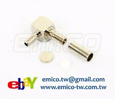 1 PCS of CRC9 MALE R/A CRIMP FOR RG174, NICKEL (EM-CR002-174)
