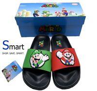 NIB 4Y 6Y 7Y YOUTH Nintendo Super Mario Luigi Slides Kids Boys Girls Sandals