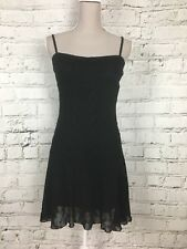 H&M Floral Embroidered Dress Black Lace Stretch Party Formal Size S
