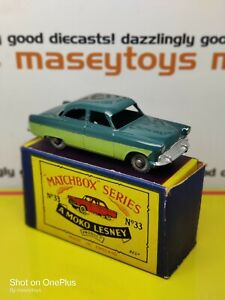 MATCHBOX LESNEY No.33a Ford  Zodiac 1957 original vintage diecast