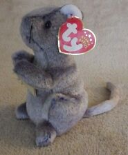 Ty Beanie Babies Cheddar Mouse Plush Bean Bag Stuffed Animal Creased Nwt