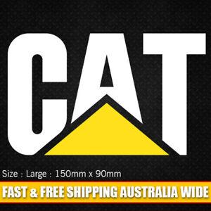Caterpillar Vinyl Cut Decal Sticker 150mm x 90mm - Heavy Machinery Truck
