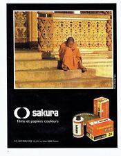 PUBLICITE ADVERTISING 0217  1980  les films & papiers couleurs Sakura Sakuracol