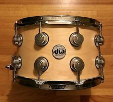 DW 8 x 14 Collector's Series Maple Snare Drum Natural Satin Oil - w/ Video Demo