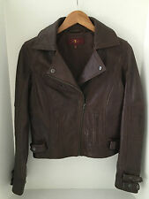 7 For All Mankind Leather Classic Motorcycle Jacket