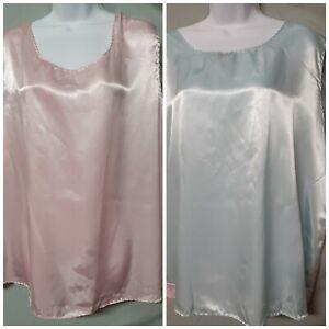 "Ventura Blue Pink Camisole Gender Reveal  Plus Size 3X  52"" BUST"