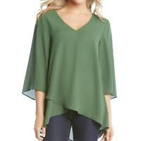 KAREN KANE NEW Women's Crossover Back Strap-detail Blouse Shirt Top TEDO