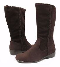 New Karen Scott KIMI Womens Faux Suede & Shearling Brown Boots Size 7