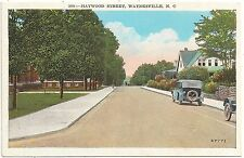 Scene on Haywood Street in Waynesville NC Postcard