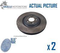 2 x NEW BLUE PRINT FRONT BRAKE DISCS SET BRAKING DISCS PAIR OE QUALITY ADJ134302