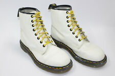DR. MARTENS women shoes sz 7 UK Europe 39 US 8.5 WHITE leather S8110