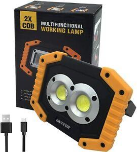 Portable Work Light Rechargeable Waterproof Flood Light for Outdoor Lighting