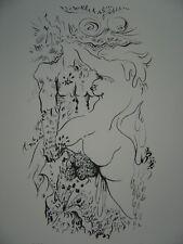 MASSON André Lithographie encadrée signée numér. composition érotique Tchou **