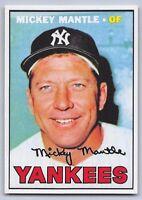 "1967  MICKEY MANTLE - Topps ""REPRINT"" Baseball Card # 150 - NEW YORK YANKEES"