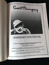 ERNEST HEMINGWAY DAYS FESTIVAL OFFICIAL PROGRAM - 1992