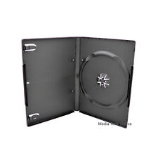 100 Standard 14mm Single CD DVD Black Movie Case Storage Box with Outter Cover