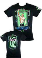John Cena Neon Green Never Give Up Mens T-Shirt L large Free shipping WWE