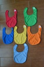ToysRus Baby Boys Set of 6 Terry Cloth Bibs 6-12 Months