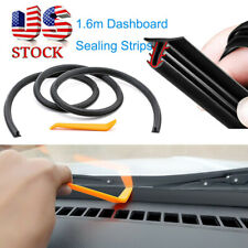 1.6m Car Push Seal Strip Rubber Dashboard Windshield Gap Engine Noise Insulation