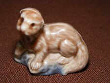 Vintage Red Rose Wade Otter Figurine, Canada Animals Series,1967-1973