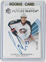 2017-18 SP Authentic hockey Future watch auto /999 Gabriel Carlsson Columbus