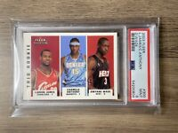 2003-04 Fleer Tradition LeBron James Melo Wade Rookie #300 Graded PSA 9 MINT RC