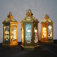 Hanging Eid LED Mubarak Ramadan Light Lantern Lamp Muslim Islam Decoration New