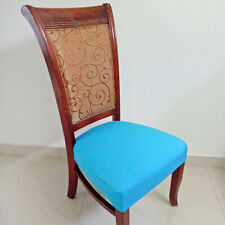 Dining Chair Seat Pad Cover Slipcover with Buckles Wedding Banquet Party