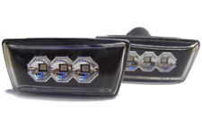 Black LED Side Repeaters Indicators Detector Opel - Fits Vauxhall Corsa D 06 + S