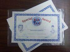 "Mini Certificates, ""Special Kids' Time Award"" - 5 packs of 25 all alike"