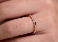 0.2ct Round Cut Diamond Wedding Ring Band 14k Rose Gold Finish Half Eternity