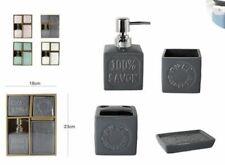 Set 4 Accessori Bagno Ceramica PortaSapone Porta Spazzolino Dispenser 69034