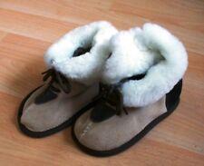 öko lammfell Kinder Hausschuhe 24/25 fell Kindergarten Schuhe Boots Leder Baby