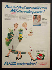 PERSIL - Vintage Colour Full Page Magazine Advert (1953) Laundry *