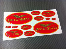 Kit Adesivi MOTO GUZZI RED 12 pz. 3D resinati