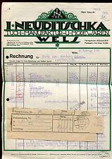 Alte Rechnung 1948 aus Wels, I.Neuditschka, Tuch-Manufraktur   19/1/14