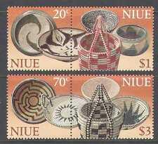 Niue 1999 Cesto/Tessitura/Craft 4 V (2 x S-T PR) (n21184)