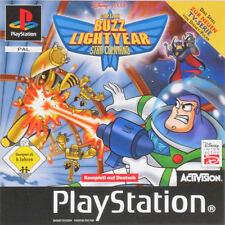 PS1 Game - DISNEY/PIXAR - CAPTAIN BUZZ LIGHTYEAR - STAR COMMAND