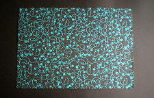 A4 Paper Handmade Paper Glitter Accent Black Turquoise