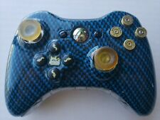 Rare Xbox 360 Wireless Evil Controller Digital Blue W/ Bullet Buttons Works !!!